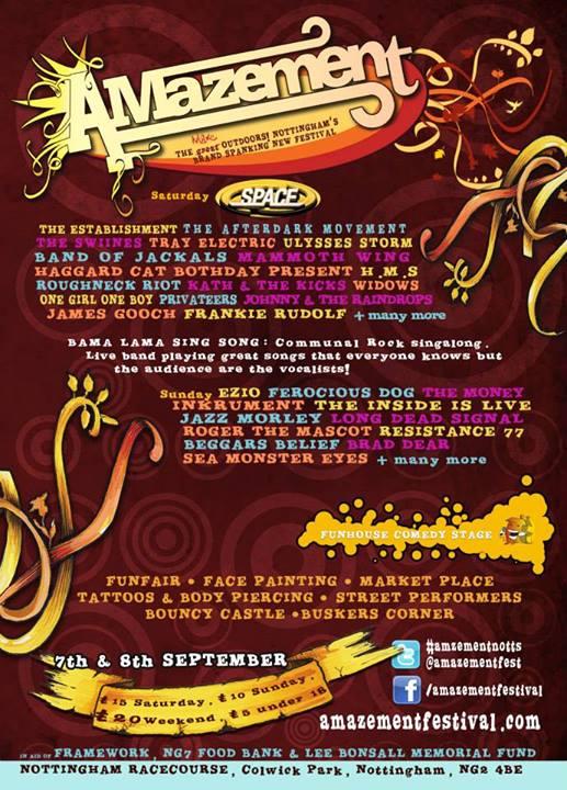 This weekend's festival line-ups: Amazement, Macmillan, Barefoot